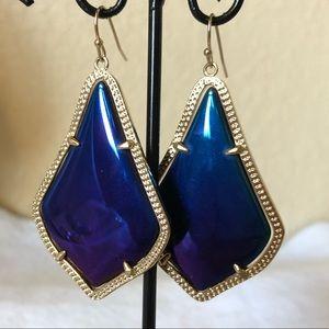Kendra Scott Alexandra black iridescent earrings